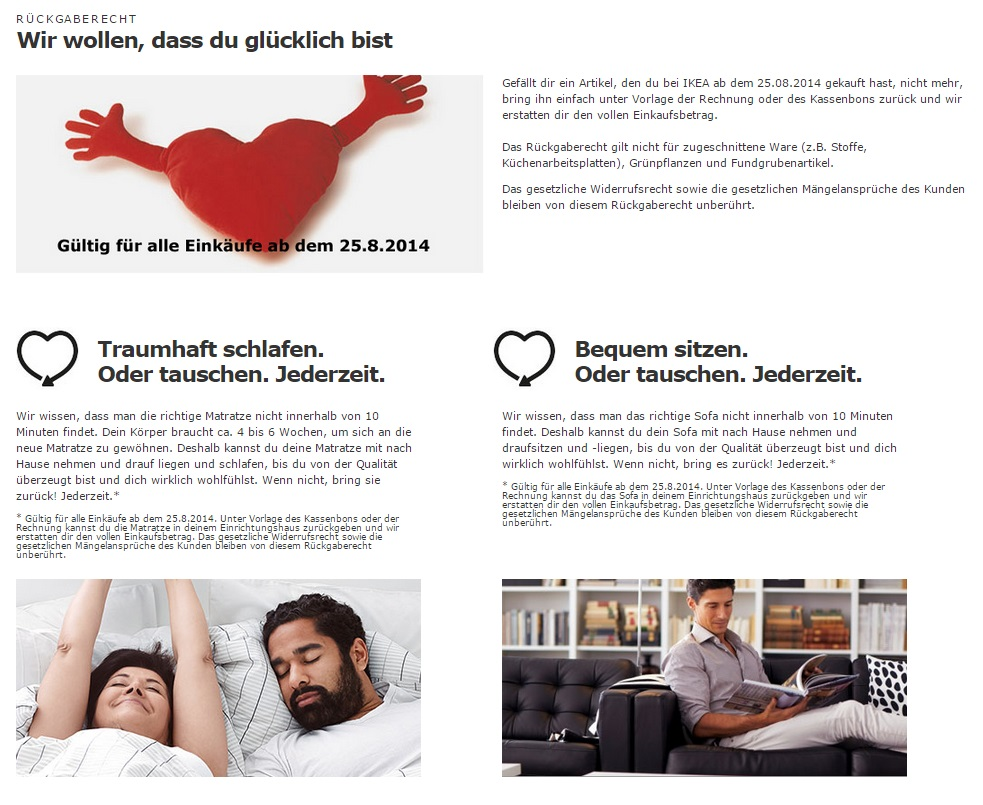 Ikea Screenshot vom Februar 2015 auf innovationsschub